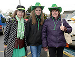 Carmel, Julieanne and Margaret McCullough at Ardee St Patrick's day parade. Photo:Colin Bell/pressphotos.ie