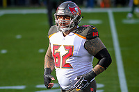 Tampa Bay Buccaneers center Evan Smith (62) during a National Football League game against the Green Bay Packers on December 2nd, 2017 at Lambeau Field in Green Bay, Wisconsin. Green Bay defeated Tampa Bay 26-20. (Brad Krause/Krause Sports Photography)
