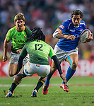 South Africa vs Samoa during the HSBC Sevens Wold Series 3/4 Playoff match as part of the Cathay Pacific / HSBC Hong Kong Sevens at the Hong Kong Stadium on 29 March 2015 in Hong Kong, China. Photo by Xaume Olleros / Power Sport Images