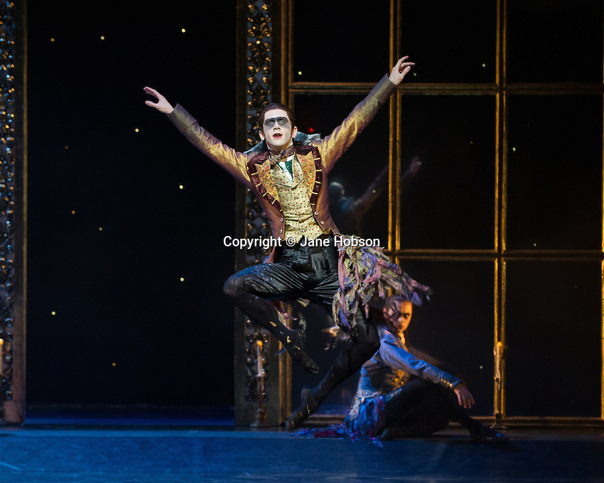 London, UK. 07.12.2012. MATTHEW BOURNE'S SLEEPING BEAUTY: A GOTHIC FAIRYTALE premieres at Sadler's Wells. Joe Walkling (Autumnus) in Act I: The Fairies Visit Baby Aurora. Photo credit: Jane Hobson.