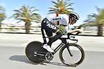 German National Champion Marcus Burghardt (GER) Bora-Hansgrohe does a recon of the course before the start of Stage 7 of the 53rd edition of the Tirreno-Adriatico 2018 a 10km individual time trial around San Benedetto del Tronto, Italy. 13th March 2018.<br /> Picture: LaPresse/Fabio Ferrari   Cyclefile<br /> <br /> <br /> All photos usage must carry mandatory copyright credit (&copy; Cyclefile   LaPresse/Fabio Ferrari)