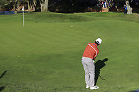 Francesco Molinari (Team Europe) chips onto the 13th green during Saturday's Foursomes Matches at the 2018 Ryder Cup 2018, Le Golf National, Ile-de-France, France. 29/09/2018.<br /> Picture Eoin Clarke / Golffile.ie<br /> <br /> All photo usage must carry mandatory copyright credit (© Golffile | Eoin Clarke)