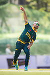 Captain Aubrey Swanepoel of South Africa bowls during Day 2 of Hong Kong Cricket World Sixes 2017 Cup Semi 1 match between  New Zealand Kiwis vs South Africa  at Kowloon Cricket Club on 29 October 2017, in Hong Kong, China. Photo by Yu Chun Christopher Wong / Power Sport Images