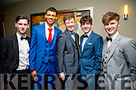Rory Forbes, Ryan Leonard, Alan Enright, Tomas Leen  Evan Lyons at the CBS The Green Students' Debs Ball at the Ballyroe Heights Hotel on Saturday night
