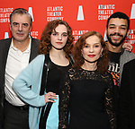 Odessa Young, Chris Noth, Isabelle Huppert, Justice Smith during the Opening Night after party for Atlantic Theater Company's 'The Mother' at The Gallery at the Dream Downtown on March 11, 2019 in New York City.