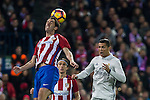 Atletico de Madrid's Diego Godin Real Madrid's Cristiano Ronaldo  during the match of La Liga between Atletico de Madrid and Real Madrid at Vicente Calderon Stadium  in Madrid , Spain. November 19, 2016. (ALTERPHOTOS/Rodrigo Jimenez)