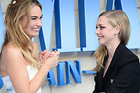 """Lily James and Amanda Seyfried<br /> arriving for the """"Mama Mia! Here We Go Again"""" World premiere at the Eventim Apollo, Hammersmith, London<br /> <br /> ©Ash Knotek  D3415  16/07/2018"""