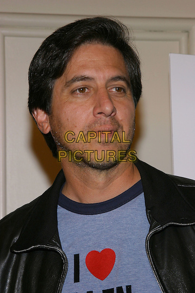 RAY ROMANO .Eulogy Los Angeles Premiere held at the Mann Festival Theatre.October 13th, 2004.heart, logo, slogan, headshot, portrait.www.capitalpictures.com.sales@capitalpictures.com.© Capital Pictures.