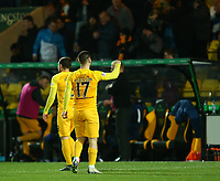 4th March 2020; Almondvale Stadium, Livingston, West Lothian, Scotland; Scottish Premiership Football, Livingston versus Celtic; Scott Robinson of Livingston celebrates after he makes it 2-1 to Livingston in the 46th minute