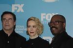 John Travolta & Sarah Paulson - American Crime Story: The People Vs. O.J. Simpson - FOX 2015 Programming Presentation on May 11, 2015 at Wolman Rink, Central Park, New York City, New York.  (Photos by Sue Coflin/Max Photos)