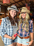 Darya Goussarova and Aideen Woods at the NECRET Barn Dance in Cushinstown AC. Photo:Colin Bell/pressphotos.ie