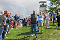 Marc Leishman (AUS) makes his way to the 4th tee during round 3 Four-Ball of the 2017 President's Cup, Liberty National Golf Club, Jersey City, New Jersey, USA. 9/30/2017.<br /> Picture: Golffile | Ken Murray<br /> <br /> All photo usage must carry mandatory copyright credit (&copy; Golffile | Ken Murray)
