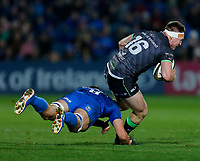 4th January 2020; RDS Arena, Dublin, Leinster, Ireland; Guinness Pro 14 Rugby, Leinster versus Connacht; Tom McCartney of Connachtis tackled by Max Deegan of Leinster<br />