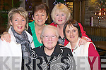 Retirement time for Templeglantine woman Sadie Flynn, who worked in St Ita's Day Care Centre, Abbeyfeale, pictured here last Friday night in Leen's Hotel, Abbeyfeale, pictured l-r: Louise Stack, Sheila Prendiville, Sadie Flynn, Mary Duffy Conlan and May Brown.