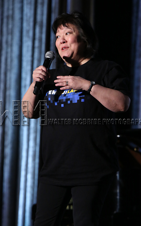 """Ann Harada from """"Emojiland"""" during the BroadwayCON 2020 First Look at the New York Hilton Midtown Hotel on January 24, 2020 in New York City."""