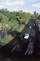 Traffic on the periferico, Mexico City. 3-9-04