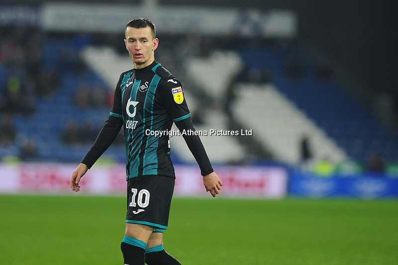 Bersant Celina of Swansea City during the Sky Bet Championship match between Huddersfield Town and Swansea City at The John Smith's Stadium in Huddersfield, England, UK. Tuesday 26 November 2019