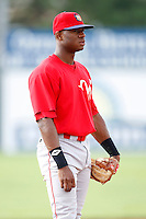 August 2, 2009:  Third Baseman Anthony Hewitt of the Williamsport Crosscutters during a game at Dwyer Stadium in Batavia, NY.  Williamsport is the Short-Season Class-A affiliate of the Philadelphia Phillies.  Photo By Mike Janes/Four Seam Images