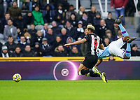 30th November 2019; St James Park, Newcastle, Tyne and Wear, England; English Premier League Football, Newcastle United versus Manchester City;  Joelinton of Newcastle United is fouled by Fernandinho of Manchester City who was booked  - Strictly Editorial Use Only. No use with unauthorized audio, video, data, fixture lists, club/league logos or 'live' services. Online in-match use limited to 120 images, no video emulation. No use in betting, games or single club/league/player publications