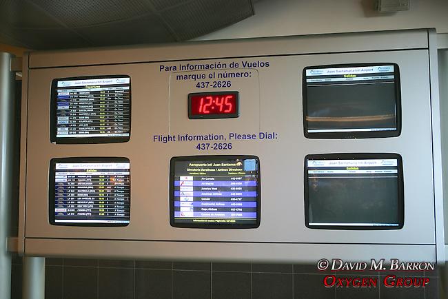 Jaun Santamaria Airport Flight Monitor Screens