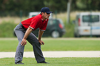 21 May 2009: Umpire Christian Cayrac is seen during the 2009 challenge de France, a tournament with the best French baseball teams - all eight elite league clubs - to determine a spot in the European Cup next year, at Montpellier, France.