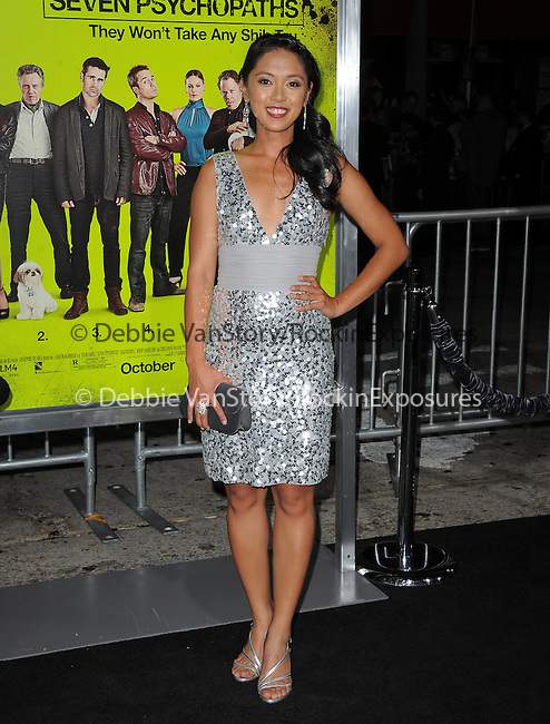 Samantha Cutaran at The CBS Films L.A. Premiere of Seven Psychopaths Premiere held at The Bruin Theatre in Westwood, California on October 01,2012                                                                               © 2012 Hollywood Press Agency