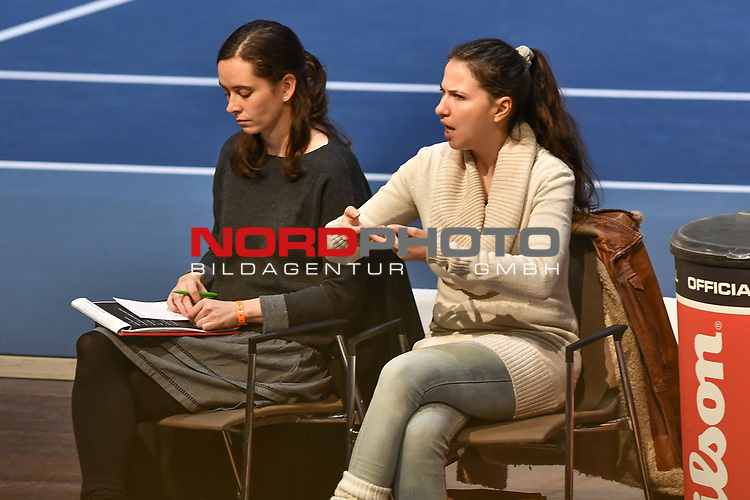 04.01.2018, Estrel Congress Center, Berlin, GER,  Internationaler DTB Tenniskongress 2019 <br /> <br /> im Bild Uebersetzung der Fortraege in Gebaerdensprache<br /> <br /> Foto &copy; nordphoto/Mauelshagen
