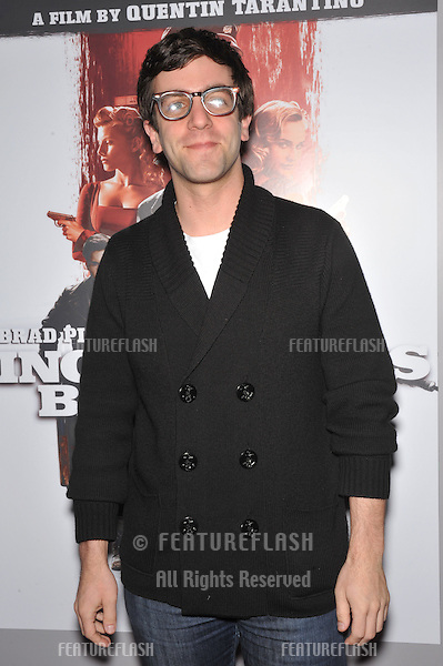 "B.J. Novak at the DVD launch of his movie ""Inglourious Basterds"" at the New Beverly Cinema, Los Angeles..December 14, 2009  Los Angeles, CA.Picture: Paul Smith / Featureflash"
