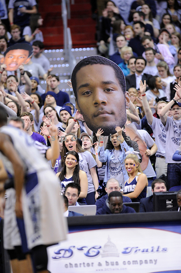 Georgetown Hoyas D'Vauntes Smith-Rivera (4) during a game against the Villanova Wildcats on January 27, 2014 at the Verizon Center in Washington, DC. Villanova beat Georgetown 65-60.