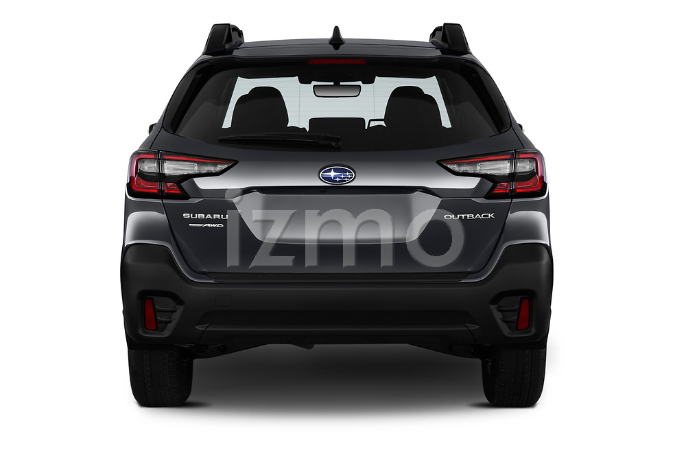 Straight rear view of 2020 Subaru Outback Premium 5 Door Wagon Rear View  stock images