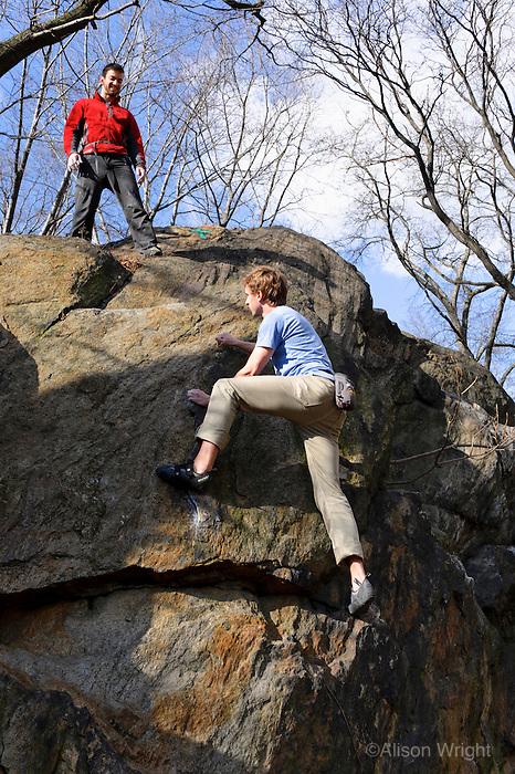 Columbia University Medical Center. Physiicians and Surgeons school students. Wilderness medicine workshop, rock climbing.