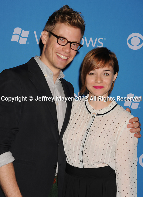 WEST HOLLYWOOD, CA - SEPTEMBER 18: Barrett Foa and Renee Felice Smith arrive at the CBS 2012 fall premiere party at Greystone Manor Supperclub on September 18, 2012 in West Hollywood, California.