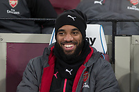 Alexandre Lacazette of Arsenal ahead the Premier League match between West Ham United and Arsenal at the Olympic Park, London, England on 13 December 2017. Photo by Andy Rowland.
