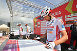 Sangemini-Trevigiani-Mg.K Vis at sign on before the start of Stage 4 of Il Giro di Sicilia 2019 running 119km from Giardini Naxos to Mount Etna (Nicolosi), Italy. 6th April 2019.<br /> Picture: LaPresse/Massimo Paolone | Cyclefile<br /> <br /> All photos usage must carry mandatory copyright credit (&copy; Cyclefile | LaPresse/Massimo Paolone)