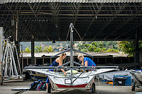 AR_07302016_RIO_HOUSTON_0064.ARW  © Amory Ross / US Sailing Team.  HOUSTON - TEXAS- USA. July 30, 2016. The US Sailing Team moves their boats and equipment from Niteroi, the training center for the past three years, across Guanabara Bay to the new Olympic sailing venue in Rio de Janeiro.