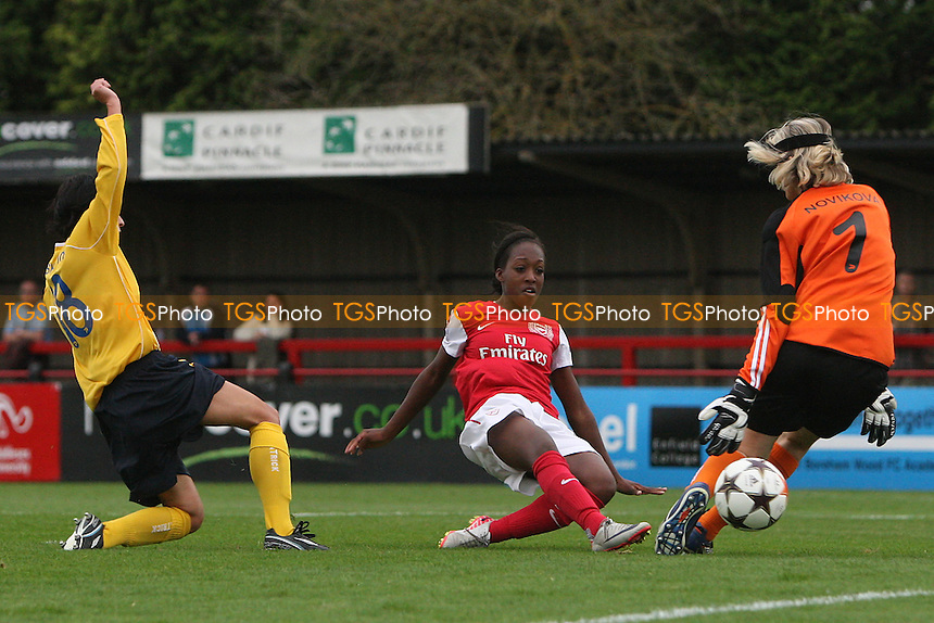 Danielle Carter in action for Arsenal - Arsenal Ladies vs FC Bobruichanka - UEFA Women's Champions League Round of 32 Second Leg at Boreham Wood FC - 05/10/11 - MANDATORY CREDIT: Gavin Ellis/TGSPHOTO - Self billing applies where appropriate - 0845 094 6026 - contact@tgsphoto.co.uk - NO UNPAID USE.