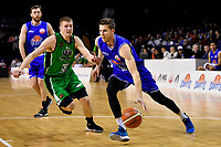 Saints' Tom Abercrombie in action during the NBL - Cigna Saints v Manawatu Jets at TSB Bank Arena, Wellington, New Zealand on Sunday 16 June 2019. <br /> Photo by Masanori Udagawa. <br /> www.photowellington.photoshelter.com