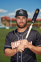 Jupiter Hammerheads Riley Mahan (2) poses for a photo before a Florida State League game against the Florida Fire Frogs on April 11, 2019 at Osceola County Stadium in Kissimmee, Florida.  Jupiter defeated Florida 2-0.  (Mike Janes/Four Seam Images)