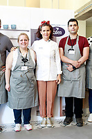Spanish Chef Samantha Vallejo-Nagera (c) with the contestants of the Eden Chef cooking competition. June 6, 2018. (ALTERPHOTOS/Acero) /NortePhoto.com