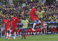 BOGOTÁ- COLOMBIA,03-06-2019:William Tesillo jugador de Colombia celebra después de anotar un gol a Panamá durante   partido amistoso de preparación para la Copa América de Brasil 2019 jugado en el estadio Nemesio Camacho El Campín de la ciudad de Bogotá. / William Tesillo player of Colombia celebrates after scoring a goal agaisnt of Panama during friendly match in preparation for the Copa América of Brazil 2019 played in the Nemesio Camacho El Campín stadium in the city of Bogotá.. Photo: VizzorImage / Felipe Caicedo / Staff