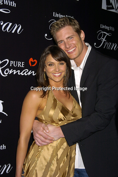 """Danielle Kirlin and husband Ryan McPartlin ..at The Premiere Party for """"Living with Fran""""  sponsored by ..Pureromance.com on April 8, 2005 at Cain Lounge. ..Photo by Robin Platzer, Twin Images"""