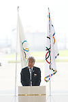 JOCTsunekazu Takeda, AUGUST 24, 2016 : The Olympic flag welcoming ceremony at Haneda Airport in Tokyo, Japan. The Olympic flag was received to Tokyo governor from IOC President at the Rio de Janeiro 2016 Olympic Games closing ceremony on August 21. Tokyo is host of the 2020 Olympic games. (Photo by Sho Tamura/AFLO SPORT)