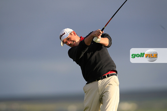 Eoghan O'Loughlin (Spanish Point) on the 2nd tee during Round 2 of the South of Ireland Amateur Open Championship at LaHinch Golf Club on Thursday 23rd July 2015.<br /> Picture:  Golffile | Thos Caffrey