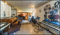 BNPS.co.uk (01202 558833)<br /> Pic: Sawmills/BNPS<br /> <br /> Should inspiration strike the recording studio is still in situ...<br /> <br /> Slide away for a break in the Cornish countryside that will live forever in the memory...<br /> <br /> Fancy a peaceful getaway in this idyllic setting, where suprisingly one of rock'n'roll's greatest albums was born...<br /> <br /> This 1000 year old paradise of calmness and tranquility in the heart of Cornwall is the unlikely spot where Oasis recorded their breakthrough Definitely Maybe allbum in 1994.<br /> <br /> The former mill still contains the recording studio where the Britpop pioneers worked their magic, and The Verve, Supergrass and the Stone Roses also recorded at the remote spot on the River Fowey. <br /> <br /> Nowadays you can book Sawmills for a quiet weekend for &pound;1111 - but you'll need to take a boat to get there, as there is no access by road  to the mill, a fact well known to record company executives keen to concentrate the creative minds of their often temperamental artists.