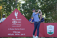 David Law (SCO) on the 17th tee during Round 3 of the Abu Dhabi HSBC Championship at the Abu Dhabi Golf Club, Abu Dhabi, United Arab Emirates. 18/01/2020<br /> Picture: Golffile | Thos Caffrey<br /> <br /> <br /> All photo usage must carry mandatory copyright credit (© Golffile | Thos Caffrey)