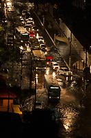 Belém é castigada pela chuva torrencial deixando a rua Mundurucus no trecho Batista Campos até a av. Castelo Branco deixando a cidade congestionada embaixo dágua.<br /> Belém, Pará, Brasil.<br /> Foto Paulo Santos<br /> 18/05/2015