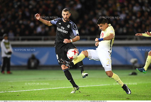 Karim Benzema (Real), Paolo Goltz (America),<br /> DECEMBER 15, 2016 - Football / Soccer :<br /> FIFA Club World Cup Japan 2016 Semifinal match between Club America 0-2 Real Madrid at International Stadium Yokohama in Kanagawa, Japan. (Photo by Takamoto Tokuhara/AFLO)