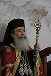 Feast of Theophany in Qasr al Yahud, Greek Orthodox Patriarch Theophilus III of Jerusalem at the Monastery of St. John