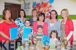 Fair: Launching their Camp Community Childcare Cookbook on Sunday at the Camp Childcare Arts & Craft Fair in the Camp Community centre . Front l-r: Claire McCormack, Cian Griffin and Lucy Finn.Back l-r: Catherine Fitzmaurice, Carol McCormack(manager), Maureen Kennedy, Sheila Griffin,Fiona Finn and Samanta Quirke...