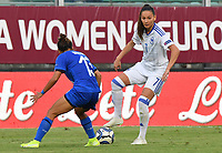 Elisa Bartoli of Italy vies for the ball with Eldina Ahmic of Bosnia and Herzegovina<br /> Palermo 08-10-2019 Stadio Renzo Barbera <br /> UEFA Women's European Championship 2021 qualifier group B match between Italia and Bosnia-Herzegovina.<br /> Photo Carmelo Imbesi / Insidefoto